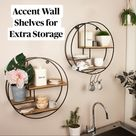 Accent Wall Shelves for Extra Storage