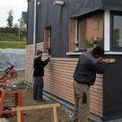 Fasadenverkleidung Haus mit Lärchenholz