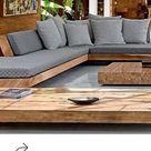 Niedrige Möbel Wohnzimmer schönes Holz klobiges Holz – 2019 - Deck ideas