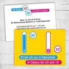 Einladung zum 50. Geburtstag: 50 Fahrenheit - 30 Karten (66,00€)