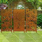 Metal Privacy Screen Decorative Panel Outdoor Garden Fence Art | Etsy