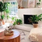 Boho Interior Design and house plants ideas 💖