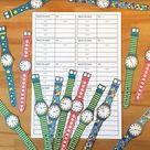 Time - Speaking Activity (Die Uhrzeit - Sprechanlass) 3 Versionen: Deutsch, Englisch und Französisch, Uhren zum selbst Basteln! – Unterrichtsmaterial in den Fächern DaZ/DaF & Englisch & Französisch