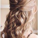 prom hairstyles half up half down thin hair