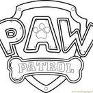 Paw Patrol Logo Coloring Page for Kids - Free PAW Patrol Printable Coloring Pages Online for Kids - ColoringPages101.com | Coloring Pages for Kids