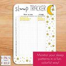 Printable sleep tracker for 28 days. Undated insert for your Bullet Journal, planner, or sleep journal.