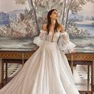 Galia lahav   Puff sleeve off the shoulder bridal ballgown