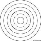 Einfaches Mandala für Kindergartenkinder zum Ausdrucken