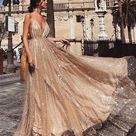 Elegant yarn long evening dress makes you exquisite and attractive   SooShell