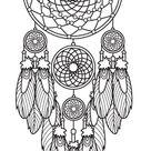 DreamCatcher tattoo stencil
