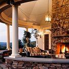 Fireplace On Porch
