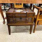 Trunk Table, dark wood, 1 drawer