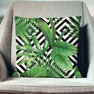 Palm Leaf Pillow Palm Pillow Palm Throw Pillow Palm Leaf | Etsy