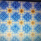 Cool floor pattern using glazed terracotta