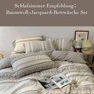 Schlafzimmer Empfehlung:Baumwoll-Jacquard-Bettwäsche Set