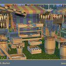 Fish Market. Sims 4
