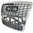 New Grille For 2005 2008 Audi A6 Quattro 2006 2008 A6 Chrome Shell with Silver Insert