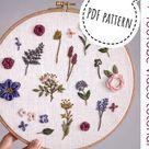 Meadow bowl TUTORIAL, digital download PDF, machine embroidery, dissolvable film