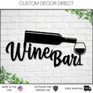 Personalized Bar Metal Sign, Pub Bar Decor, Rustic Home Decor, Basement Bar, Wine Decor, Wine Bar Sign, Mother's Day Gift, Wine Gifts, Wine - Black / 14 inches