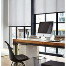 home office window treatments simple