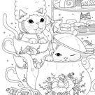Стоковая иллюстрация «Black White Cats Having British Afternoon», 503100136