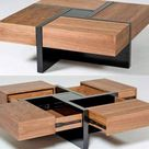 The Lipscomb Solid 4-Drawer Storage Coffee Table Has 4 Secret Drawers That Makes it totally Awesome!