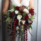 Wedding Bouquet Bridal Bouquet Bouquet Wedding Burgundy | Etsy