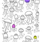 Lots of things to find and colour on Holiday - jellyfish