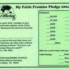 Sample Faith Promise Commitment Or Pledge Card Pertaining To Pledge Card Template For Church In 2021 Card Template Father S Day Card Template Words