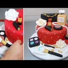 MAKEUP Fashion Cake | How To Make *Torta Maquillajes by Cakes StepbyStep