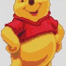 WINNIE The POOH Cross Stitch Pattern PDF, Embroidery Chart Cute Nursery Decor, Disney Animal Counted Cross Stitch Chart, Instant Download