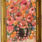 Vintage Floral Painting  PRINTABLE Floral Wall Art  Pink   Etsy