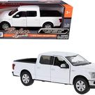 2019 Ford F-150 Lariat Crew Cab Pickup Truck White 1/24-1/27 Diecast Model Car by Motormax