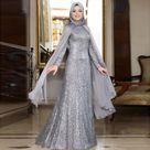 Islamic Clothing Muslim Dress Abaya and Cape 2 piece Set Women Kaftan abaya Dubai Prayer Caftan Marocain djellaba Eid Plus Size