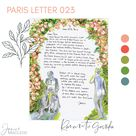 Rose Garden: Paris Letters, June, Spring in Paris, A letter about the most romantic hidden spot in Paris, sent FLAT with FREE shipping