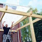 Vordach selber bauen mit Bauplan zum Download