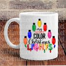 PRINTABLE Christmas SUBLIMATION DESIGNS Downloads My Favorite Color is Christmas Lights Christmas Png files Sublimation Digital Download