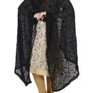 Black Embroidery Dupatta Indian Pakistani Designer Chunni Stole Scarves embroidered Lehenga Suit Salwar hijab sarong Kameez for Women Girls
