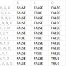 Count cells containing text from list