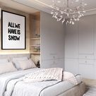 magnificent bedroom, luxury bedroom decor ideas, all we have is now inspirational funny quote print