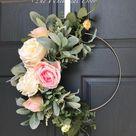 Boho hoop wreath bohemian floral wreath wedding wreath bridal | Etsy