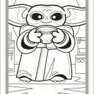 Coloriages Baby Yoda page 1 Héros