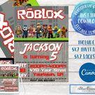 Roblox Birthday Invitation Roblox Invitation Roblox Party   Etsy