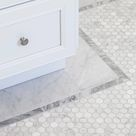 Hexagon 12 in. x 12 in. Marble Mosaic Wall Tile