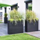 Sichtschutz für Terrasse und Garten mit Pflanzenkübeln