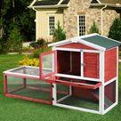 Tucker Murphy Pet™ Standridge Rabbit Hutch Red 35.5 x 61.0 x 23.5 in, Metal | Wayfair Canada
