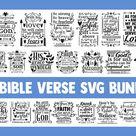 Bible verse SVG bundle, christian svg, blessed svg religious (414179) | SVGs | Design Bundles