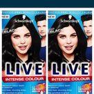 Schwarzkopf Professional Live Intense Color Hair Dye Deep Black 099 (Pack Of 2)