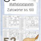Mathelesespuren Zahlwörter bis 100