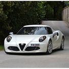 Print of Alfa Romeo 4C Coupe, 2014, White